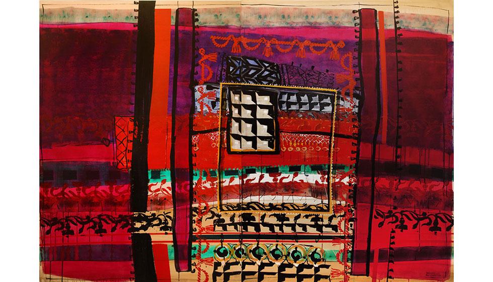 Βασίλης Καρακατσάνης  'Carpets 2' 200X140 δίπτυχο ακρυλικό & λάδι σε καμβά 2015