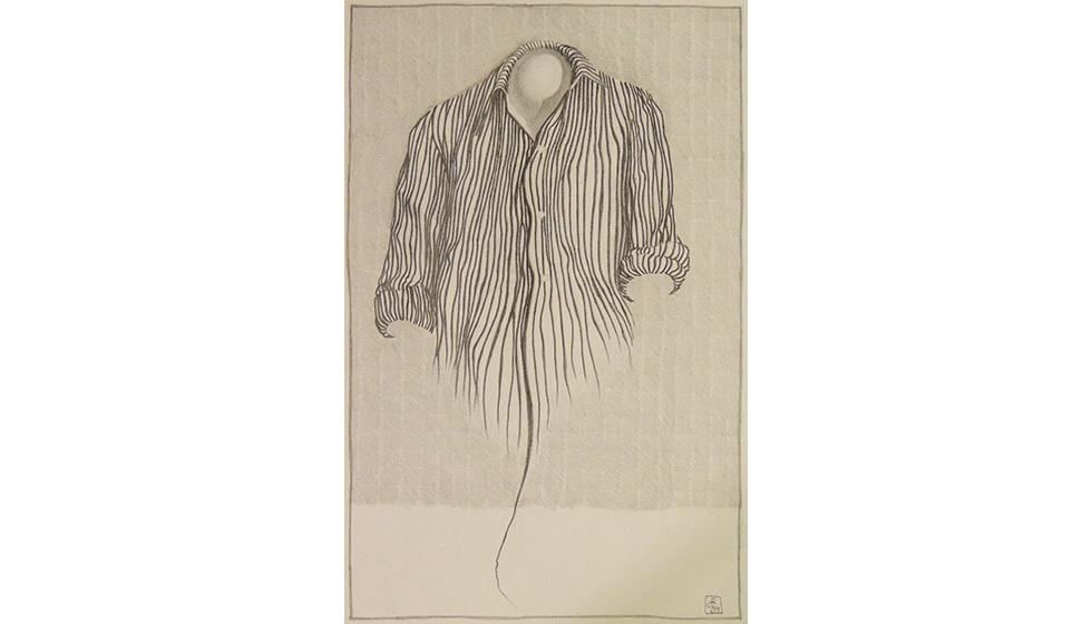 Άδειο-πουκάμισο, 26 Χ 16 εκ. μολύβι σε χαρτί