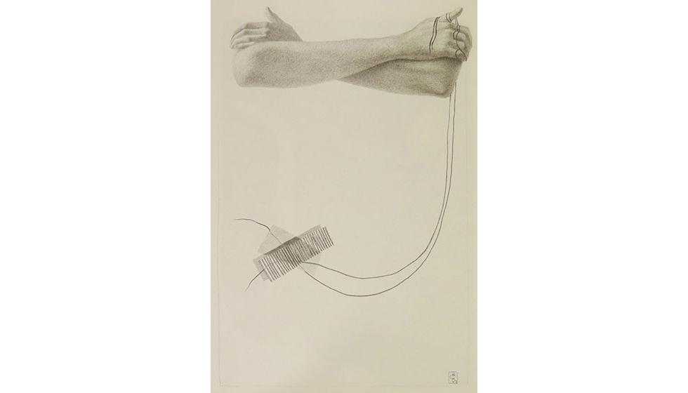 Αναμονή, 26 Χ 16 εκ. μολύβι σε χαρτί