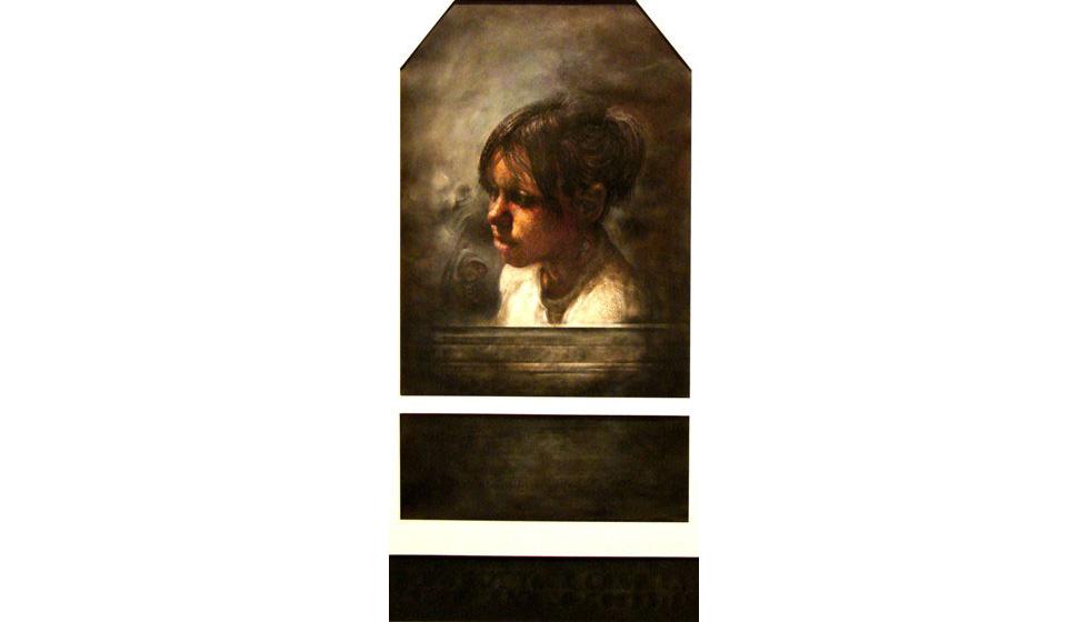 Σβήσε τα Κεριά Λώρα 2, ακρυλικό σε χαρτί, 70x100cm