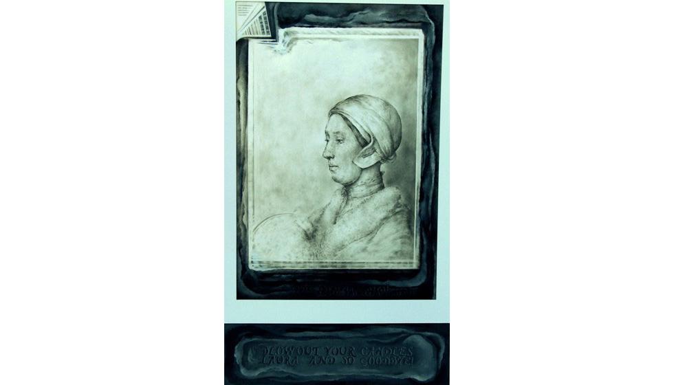 Σβήσε τα κεριά Λώρα 1, ακρυλικό και γραφίτης σε χαρτί, 70x100cm