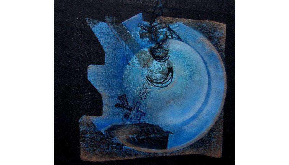 Παραμυθάκι, ακρυλικό  σε χαρτί, 17x17cm