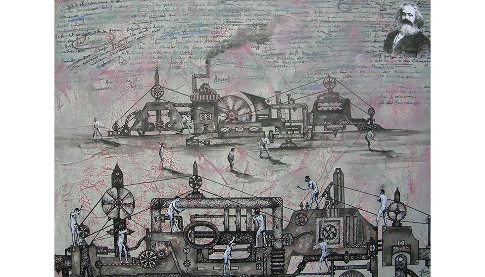 The Capital, 60 x 80εκ, μικτή τεχνική σε καμβά