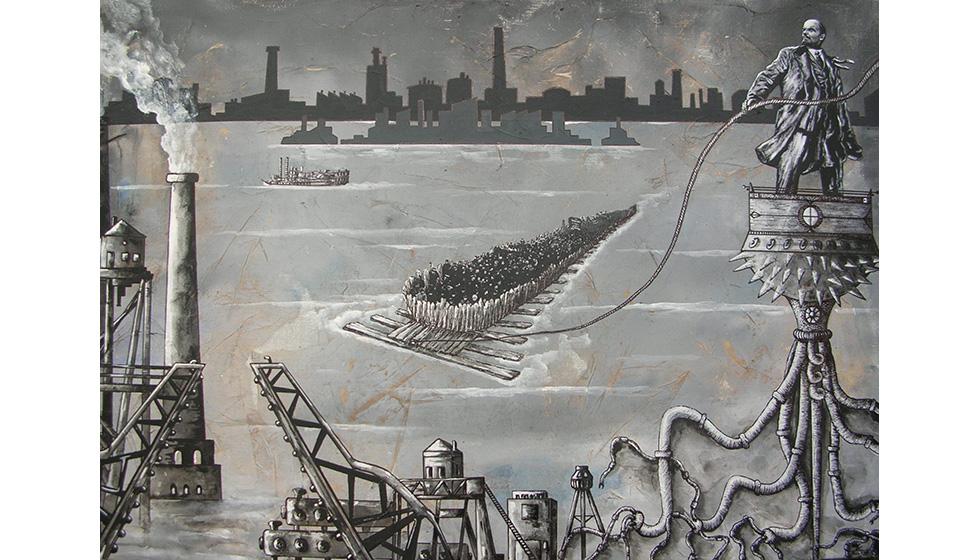 World War II, 60 x 70εκ, μικτή τεχνική σε καμβά