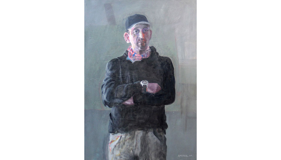 the portrait of the painter spiros litras, oil on canvas, 70 x 100cm
