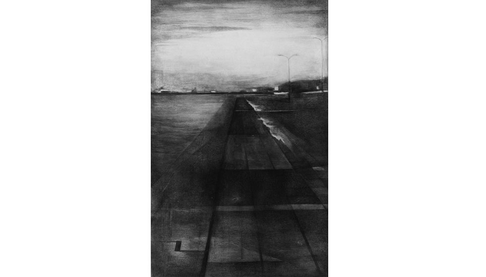 Route, Charcoal, 140 x 95cm
