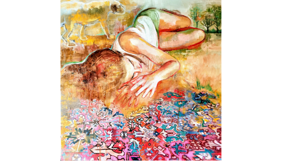Η κοιμωμένη, 60x60cm, λάδι σε καμβά, 2020