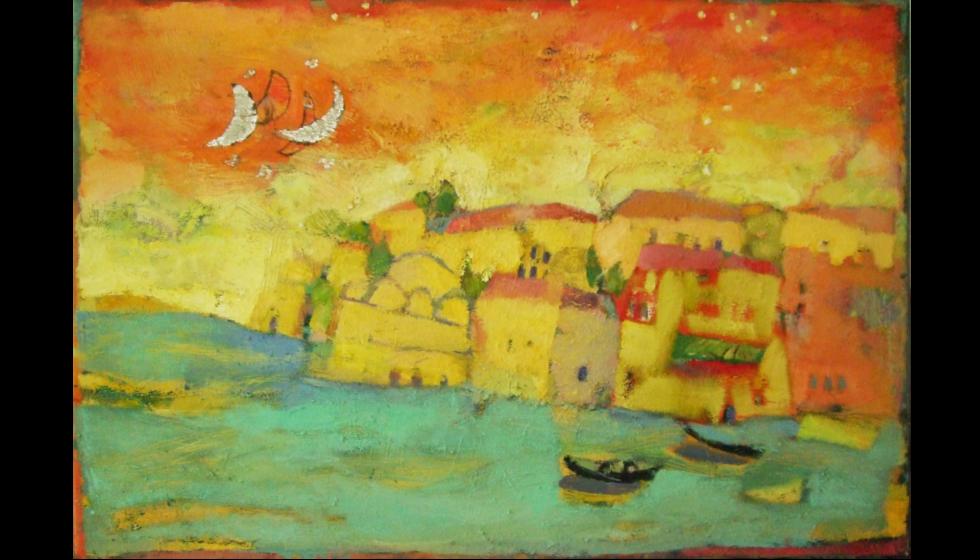 Canea Old Harbour, Oil on canvas, 100x150cm